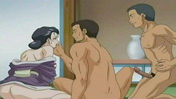 anime hentai gostosa fazendo sexo com dois machos safadinhos