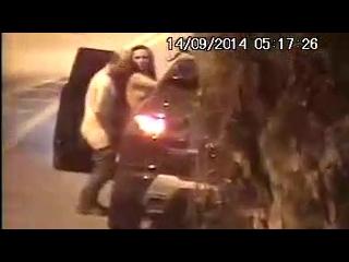 sexo romântico flagra real de um casal fodendo em público